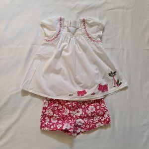 Gymboree Pink & White Outfit